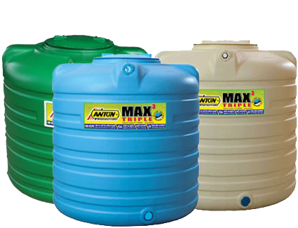 Anton Max Triple Layer Water Tank  (Inner Layer - White, Middle Layer - Black)